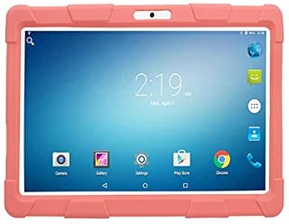 Atouch Tablet, Kids Tab A10,10.1 inch Tablet,Dual Sim,4GB Ram,64GB Rom,4G Lite with Gifts (Pink)