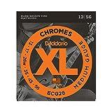 D'Addario Chromes ECG26 Cordes à filet plat pour guitare électrique Moyen 13-56