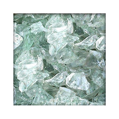 100 kg Glasbrocken Glasbruch Glassteine Glas Gabione 60-120 mm Farbe Kristall