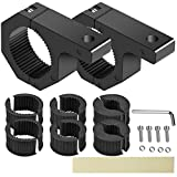 SUZCO 2-Pack Offroad Led Light Mounting Brackets Horizontal Bar Tube Clamp Kit 1'/1.5'/1.75'/2', Heavy-Duty Solid Aluminum Mount Roll Cage Roof Rack Holder for Off-Road Jeep Truck UTV ATV Bumper Ford