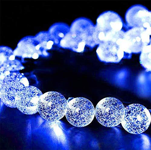 WH Decorativo Catena Luminosa Solare Strisce LED da Esterno - Luminarie Colorate A Globo Impermeabili Fino, 30 LED,Blue