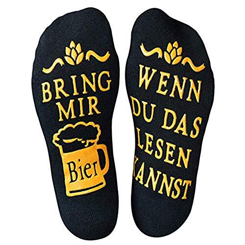 Loozykit Lustige Socken Wenn Du das Lesen Kannst Wein Geschenk für Weinliebhaber, Bier Socken Wein-Socken/Kaffee-Socken Weihnachten Geschenk für Frauen Männer Valentinstag (Schwarz)