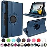 UC-Express Medion Lifetab E10430 E10714 E10414 E10604 E10412 E10511 E10513 E10501 Tablet Hülle Tasche Schutzhülle Cover 360° Drehbar, Farbe:Blau