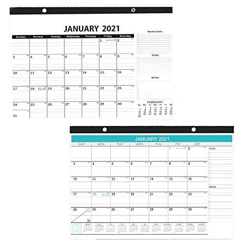 2021 Calendario de Pared, Planificador Mensual Familiar, Nov 2020 a Dic 2021 y Enero 2021 a Junio 2022, Planificador de Pared, para la Planificación la Organización Oficina Reuniones, 30,5 x 43 cm