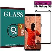 Tianyun Galaxy S8 Panzerglas Schutzfolie, Hohe Qualität 3D Gehärteter Glas panzerfolie [HD Klar] [Anti Fingerabdruck] [Anti-Kratzen] [Blasenfrei] Glas 3D Displayschutzfolie für Samsung Galaxy S8
