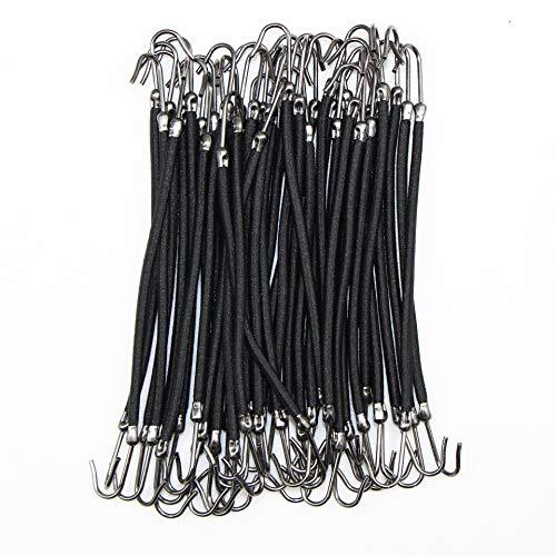 20pcs coleta de pelo lazos con ganchos gomas elásticas para el pelo para mujeres y niñas Accesorios para el peinado del cabello titular de cola de caballo (negro)