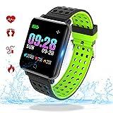 Fitness Tracker con Monitor de Ritmo cardíaco Bluetooth Smartwatch con presión Arterial Tasa de oxígeno Loop Actividad de Salud Reloj Pulsera Inteligente M19-1