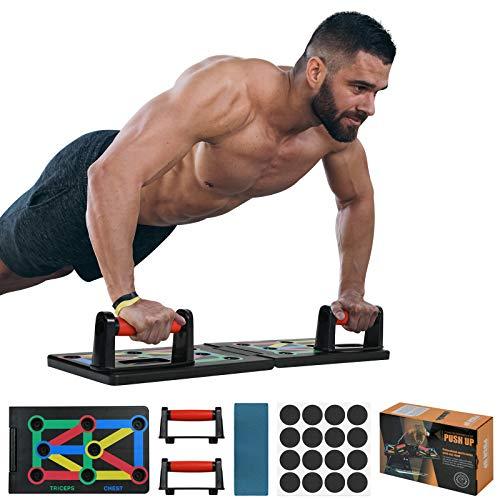flintronic Push Up Rack Board, Tabla de Flexiones, Plegable para Ejercicios En El Hogar, Marco de Entrenamiento PortáTil Push-Up, Utilizado para Hombres, Mujeres, Entrenamiento En El Hogar Fitness