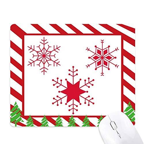 le festival de noël flocon de neige rouge tapis de souris canne de noël du tapis.