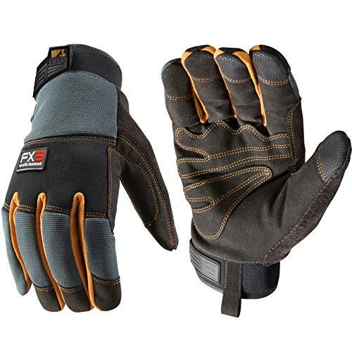 FX3 Men's Extreme Dexterity Extra Wear Winter Work Gloves, Large (Wells Lamont 7796)