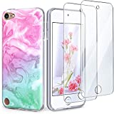 IDWELL iPod Touch Case with 2 Screen Protectors, iPod Touch 7 Touch 6 Touch 5 Case, Slim FIT Anti-Scratch Flexible Soft TPU Bumper Protective Case (Latest Model,2019 Released), Coloful Marble