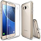 Ringke Fusion Compatible with Galaxy J7 Case Shock Absorption TPU Bumper Drop Protection Clear Hard Case for Galaxy J7 2016 - Clear