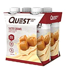SIMPLY MADE WITH 11 INGREDIENTS: The Quest Vanilla Protein Shake is a creamy vanilla shake you can enjoy any time with 30g of protein, 3g carbs and 1g of sugar per shake NATURALLY FLAVORED: Quest Vanilla Protein Shakes are sweet tasting refreshments ...