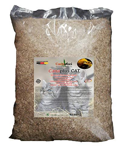 Canaplus Cat 12 litros - Lecho de cáñamo para Gatos, 100% orgánico, Alto Poder Absorbente, Libre de Polvo dañino, Adecuado para Animales alérgicas. Producto Patentado