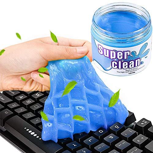 BESTZY Kit Limpiador de Teclado - Gel de Limpiador y Cepillo Teclado, Súper Limpia el Polvo y las Bacterias en Ordenador Tableta Cámara Calculadora Interior del Coche, 160 g