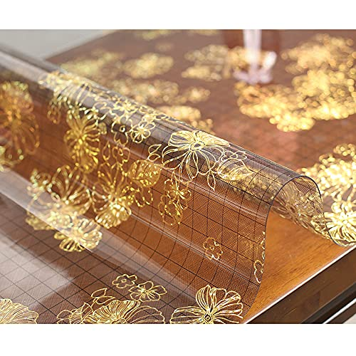 Protector De Mesa Rectangular De Pvc, Mantel Transparente Mantel Impermeable Cojines De Mesa Antimanchas Protectores De Mesa Resistentes Al Calor Par Escritorio De Comedor