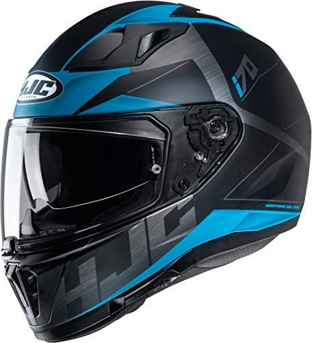 Motorradhelm HJC i70 ELUMA MC2SF, Schwarz/Blau, L