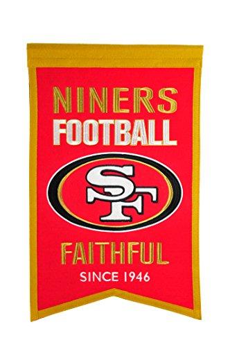 Winning Streak Sports NFL San Francisco 49ers Franchise Banner - Wall Decor for Sports Fans