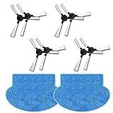 N / A Youriaa Lot de 8 brosses latérales + 2 balais pour AMIBOT Prime/Pure/Pulse/Flex H2O