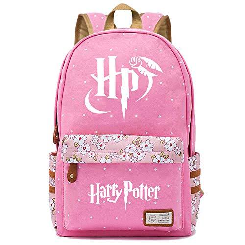 NYLY Harry Potter Floral Rucksack stilvolle Mädchen Schule Tasche junge lässigE Daypack Wanderrucksack Große S-24