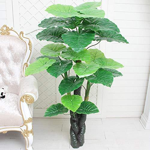 Ksnrang Simulación Árbol de la Fortuna en Maceta Planta Grande Decoración Interior Flores Falsas Simulación Flor Sala de Estar Planta Verde Bonsai-Goteo Xiangyun de 1,4 m (sin Lavabo)