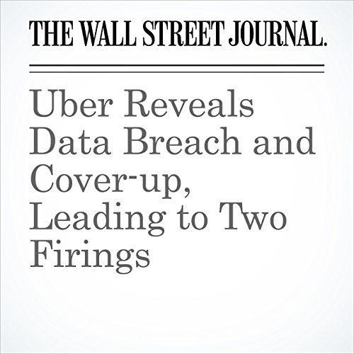 Uber Reveals Data Breach and Cover-up, Leading to Two Firings copertina