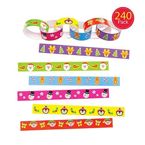 Baker Ross papieren kettingen voor Kerstmis (240 stuks) knutselset kinderen
