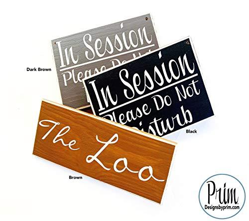 Designs by Prim 12x4 Namaste Custom Wood Sign | Om Yoga Zen Relax Chill Meditation Spa Pilates Yogi Door Plaque | Yoga Studio Meditation Room Wall Decor