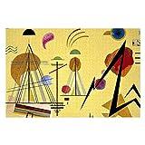 Kandinsky Line Spot - Puzzles de pintura abstracta para adultos, 1000 piezas para niños, juguetes de regalo para niños y niñas, 50,8 x 76,2 cm