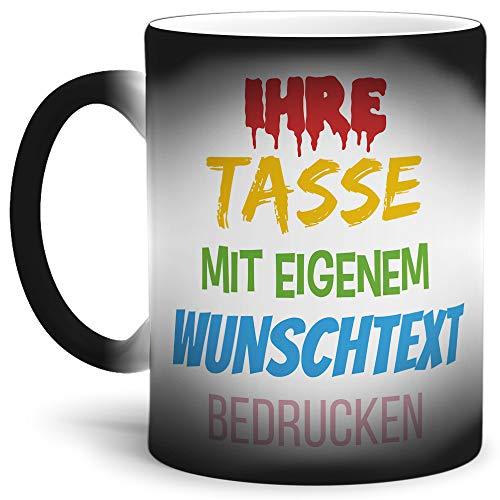 Tasse selbst gestalten/mit eigenem Text beschriften/Wunsch-Name/Spruch-Tasse/Zaubertasse Matt/Mittig gegenüber vom Henkel Bedruckt