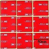 StickersLab - 3M 5952 biadesivo VHB a schiuma acrilica (10 pezzi 50x50mm)