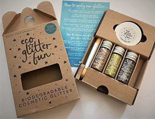 Eco Glitter – Juego de 5 piezas de brillo cosmético biodegradable, con...