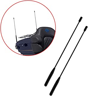 AntennaMastsRus 13 Inch Flexible Rubber Antenna is Compatible with Harley Davidson Road Glide 1989-2019 - 2 Pack