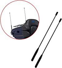 16.3'' Harley Antenna Mast Harley Davidson Antenna Flexible Rubber AM/FM for 1989-2017 Harley Davidson Electra Road Tour Ultra Classic Pack of 2