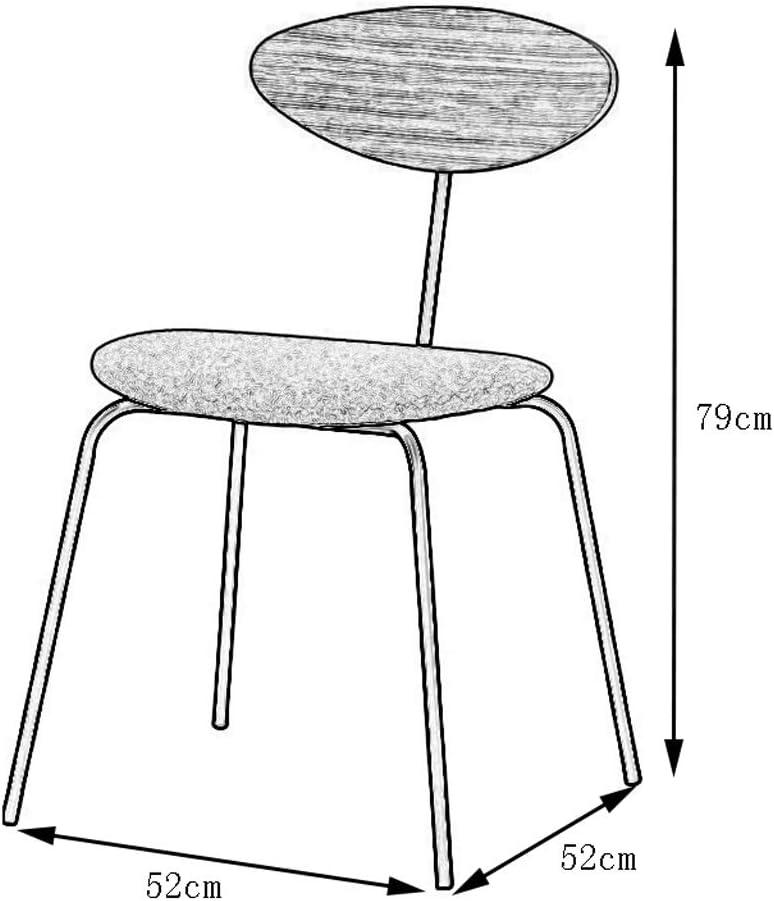 Min Chaise Simple à Manger Chaise Loisirs Maison Moderne Table à Manger Chaise arrière Convient for café Salon de thé Salon, 52x52x79cm Chaise de Salle à Manger (Color : Gray) Gray