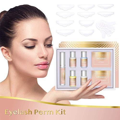 Aroamas Eyelash Perm Kit Full Eyelash Lift Kit – Professional Quality, Semi-Permanent Curling Perming Wave, Lotion & Liquid Set