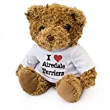 New - I Love Airedale Terriers - Teddy Bear - Cute Soft Cuddly - Dog Gift Present