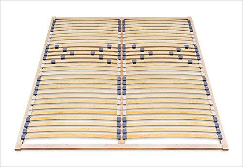 ECOFORM Lattenrost MIT Härtegradregulierung 120/140/160/180/200 x 200 - vom Hersteller (160 x 200 cm)