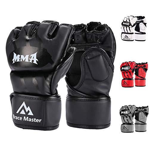 Brace Master MMA Guantes para Grappling, Guantes de Entrenamiento