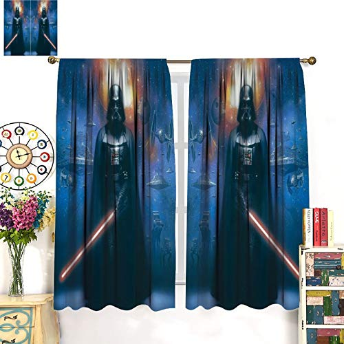 DRAGON VINES Verdunkelungsvorhang Star Wars Darth Vader Boy Vorhang für Schlafzimmer, Wohnzimmer, Zuhause, Küche, moderne Mode, Kunst, 132 x 213 cm