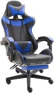 HFJKD Silla E-Sports Silla de Escritorio de Cuero PU Respaldo y cojín de Asiento Juegos de PC Silla de Oficina con Respaldo Alto Carreras para Juegos de Trabajo:
