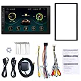 Shumo Doble DIN Android 8.1 Car Multimedia Reproductor MP5 GPS 7 Pulgadas Pantalla 2 DIN Incorporado WiFi Car Stereo Radio Soporte de Radio EstéReo para AutomóVil FM Am/Enlace Espejo