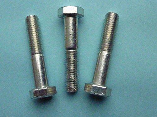 5 Stk DIN 960 Sechskantschraube M12x1,25x70 Feingewinde mit Schaft - Stahl verzinkt