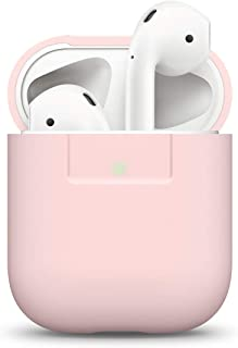 elago Silicone Cover Compatible with Apple AirPods 1 & 2 (Front LED Visible) - [Extra Protection] [Slim and Lightweight] - Lovely Pink