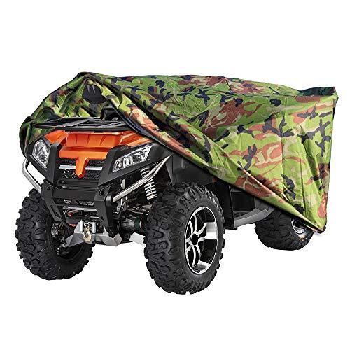 ATV Abdeckplane, Quad Motorrad Allwetter Motorradabdeckung im Freien Wasserdicht, staubdicht, UV-Schutz, atmungsaktiv, mit winddichtem Gurt M