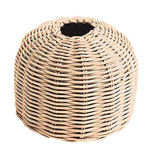 Tubayia Funda protectora para bombona de gas propano de ratán para camping, senderismo, color beige S