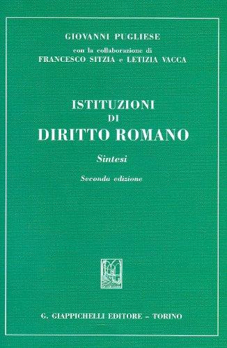 Istituzioni di diritto romano. Sintesi