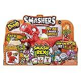 ZURU SMASHERS 7439 Dino Smash Rex Playset con 2 exclusivos Smashers, Naranja, Talla única