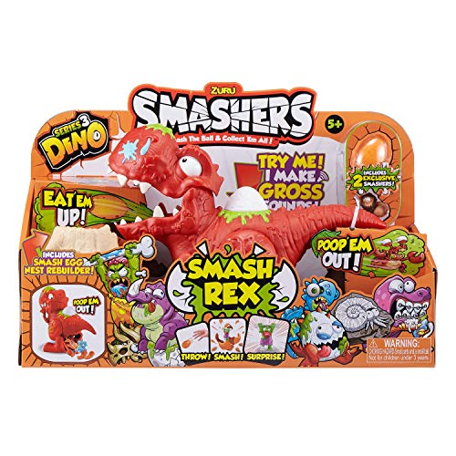 Smashers Series 3 Dino Smash Rex Playset with 2 Exclusive by ZURU