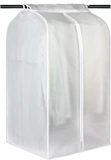 Garment Clothes Cover Garment Storage Bag Hanging Clothing Storage Bag with Magic Tape and Zipper Translucent Garment Bags...